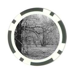 Black and White Forest Poker Chip