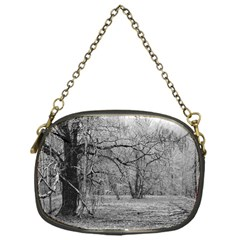 Black and White Forest Single-sided Evening Purse
