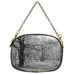 Black and White Forest Twin-sided Evening Purse