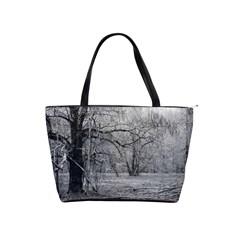 Black And White Forest Large Shoulder Bag