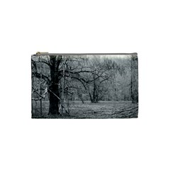 Black And White Forest Small Makeup Purse