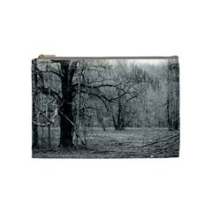 Black And White Forest Medium Makeup Purse