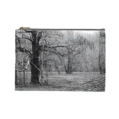 Black And White Forest Large Makeup Purse