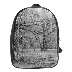 Black and White Forest Large School Backpack