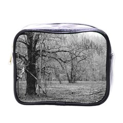 Black And White Forest Single Sided Cosmetic Case