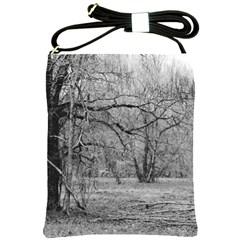 Black and White Forest Cross Shoulder Sling Bag