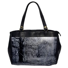 Black And White Forest Single Sided Oversized Handbag