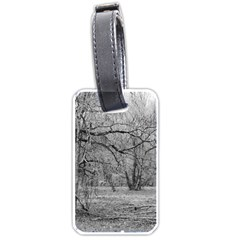 Black And White Forest Twin Sided Luggage Tag