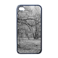 Black and White Forest Black Apple iPhone 4 Case