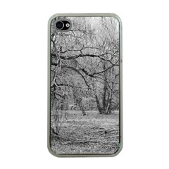 Black and White Forest Apple iPhone 4 Case (Clear)