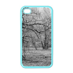 Black And White Forest Apple Iphone 4 Case (color)