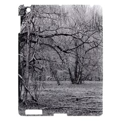 Black and White Forest Apple iPad 3/4 Hardshell Case