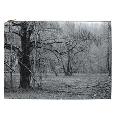 Black and White Forest Cosmetic Bag (XXL)
