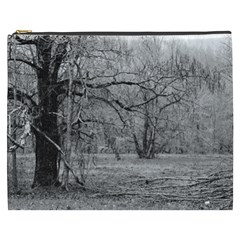 Black And White Forest Cosmetic Bag (xxxl)