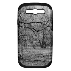 Black And White Forest Samsung Galaxy S Iii Hardshell Case (pc+silicone)