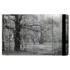 Black and White Forest Apple iPad 3/4 Flip Case
