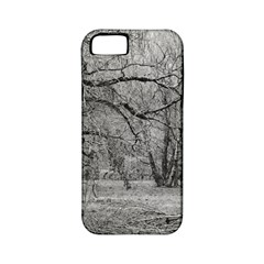 Black and White Forest Apple iPhone 5 Classic Hardshell Case (PC+Silicone)