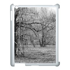 Black and White Forest Apple iPad 3/4 Case (White)