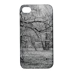 Black and White Forest Apple iPhone 4/4S Hardshell Case with Stand
