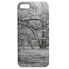 Black and White Forest Apple iPhone 5 Hardshell Case with Stand