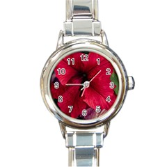 Red Peonies Classic Elegant Ladies Watch (Round)
