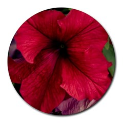 Red Peonies 8  Mouse Pad (round)