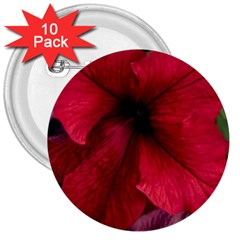 Red Peonies 10 Pack Large Button (round)