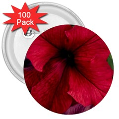 Red Peonies 100 Pack Large Button (Round)
