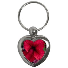 Red Peonies Key Chain (Heart)