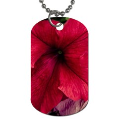 Red Peonies Single-sided Dog Tag