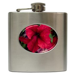 Red Peonies Hip Flask