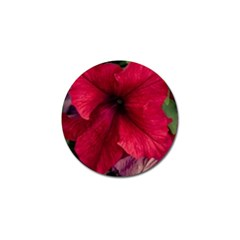 Red Peonies Golf Ball Marker
