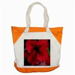 Red Peonies Snap Tote Bag