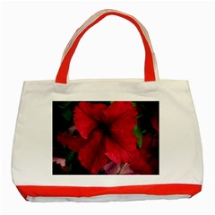 Red Peonies Red Tote Bag