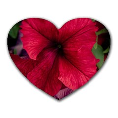 Red Peonies Mouse Pad (Heart)