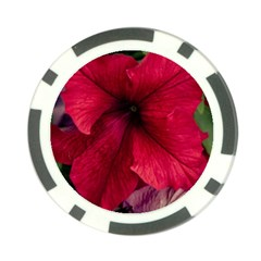 Red Peonies Poker Chip