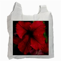 Red Peonies Twin-sided Reusable Shopping Bag