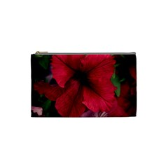 Red Peonies Small Makeup Purse
