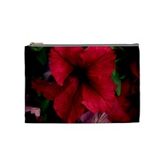 Red Peonies Medium Makeup Purse