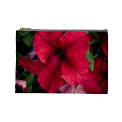 Red Peonies Large Makeup Purse