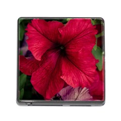Red Peonies Card Reader With Storage (square)