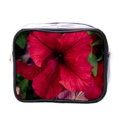 Red Peonies Single-sided Cosmetic Case
