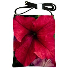 Red Peonies Cross Shoulder Sling Bag