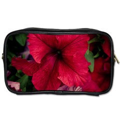 Red Peonies Twin Sided Personal Care Bag