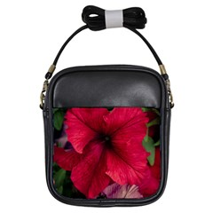 Red Peonies Kids  Sling Bag
