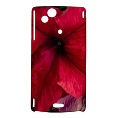 Red Peonies Sony Xperia Arc Hardshell Case