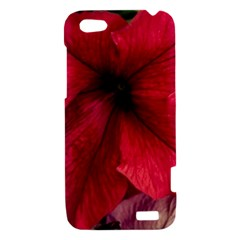 Red Peonies HTC One V Hardshell Case