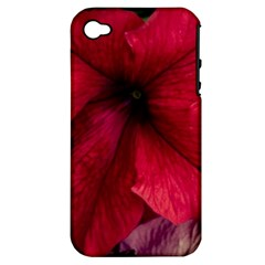 Red Peonies Apple iPhone 4/4S Hardshell Case (PC+Silicone)