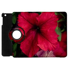 Red Peonies Apple Ipad Mini Flip 360 Case