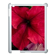 Red Peonies Apple iPad 3/4 Case (White)